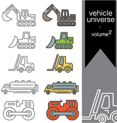 Vehicle universe 2 vector