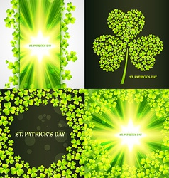 Set of saint patricks day background vector