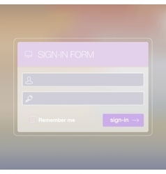 Modern user interface login screen template for vector