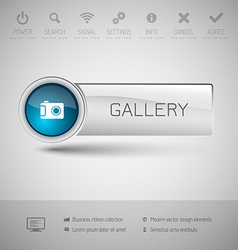Modern glossy button vector