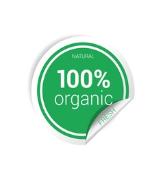 Sticker of organic fresh green vector