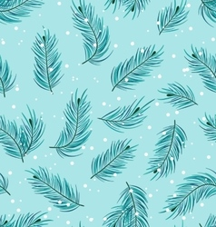 Seamless pattern with fir twigs vector