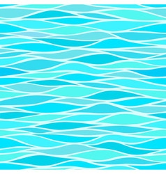 Seamless patterns with stylized waves blue shades vector