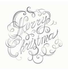 Merry christmas inscription retro calligraphy vector