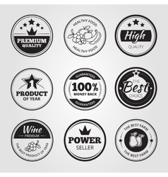 High quality vintage wax seals labels badges and vector