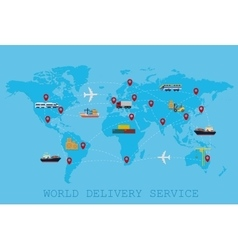Global logistic shipping and service worldwide vector