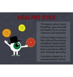 Benefits of citrus fruits for eyesight vector