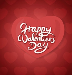 Happy valentines day hand drawn lettering vector