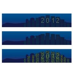 cityscape 2012 vector image
