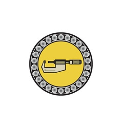 Caliper ball bearing circle retro vector