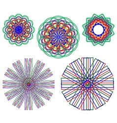 Abstract flowers of various shapes and bright vector image vector image