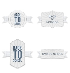 Back to school festive labels set vector