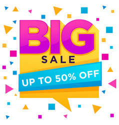 big sale flyer templatr with lrttering vector image vector image