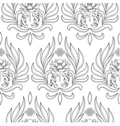buddhism symbols seamless pattern vector image vector image