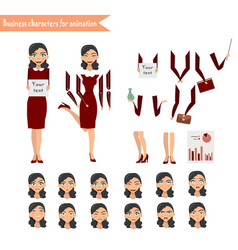 business woman for animation vector image vector image