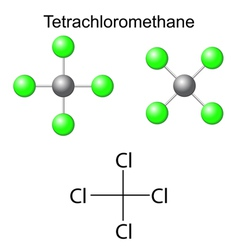 Chemical formula of carbon tetrachloride vector image vector image