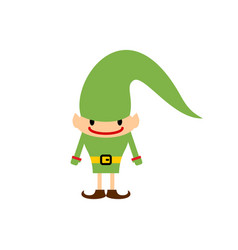 Christmas elf isolated santa claus helper vector