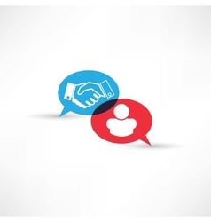 contract handshake icon vector image vector image