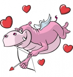 cupid hippo vector image
