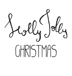 Decorative Xmas Lettering vector image