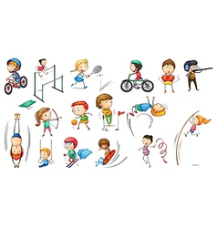 Different sports activities vector image vector image