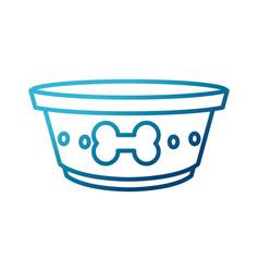 Dog dish food vector