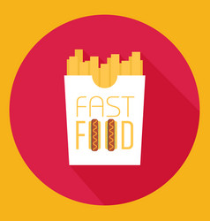 Fast food word sign logo icon design template vector