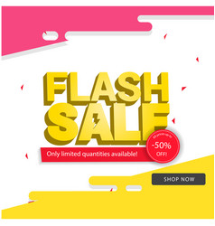 Flash sale 50 off colorful background image vector