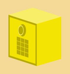 Flat icon on stylish background money safe vector