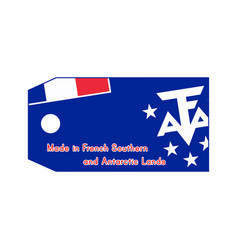 French southern and antarctic lands flag on price vector