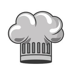 gray scale silhouette with chefs hat vector image vector image