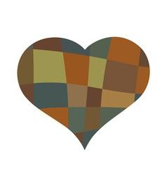 Heart mosaic symbol vector image