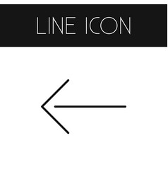 Isolated left outline direction element vector