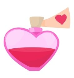 Love potion icon cartoon style vector