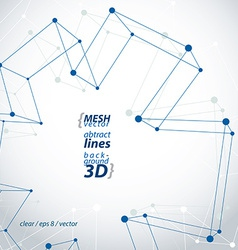 Monochrome 3d mesh polygonal abstract object vector image vector image