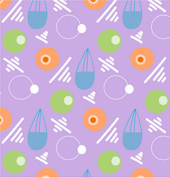 Pattern retro vintage 80s or 90s vector