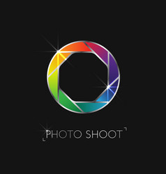 photo shoot logo vector image