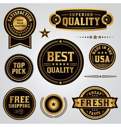 Quality and Satisfaction Badges and Labels Set vector image