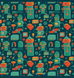 save robots pattern vector image vector image