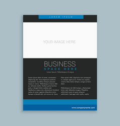 Simple business brochure template vector