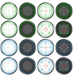 Sniper Scope Target Colorful Set vector image