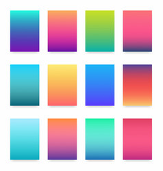 soft color gradient modern light background set vector image vector image