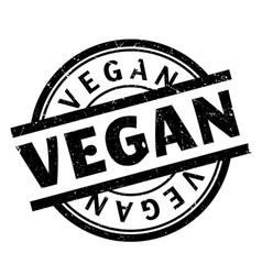 vegan rubber stamp vector image vector image