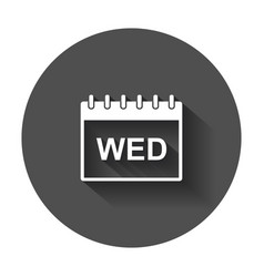wednesday calendar page pictogram icon simple vector image vector image
