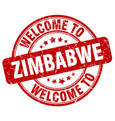 welcome to zimbabwe vector image vector image