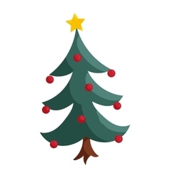 Christmas tree icon cartoon style vector