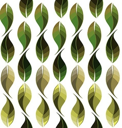 seamless leaf pattern1380x400 vector image