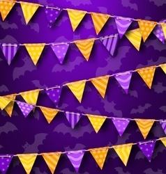 Colorful Hanging Bunting for Holiday Party Cute vector image