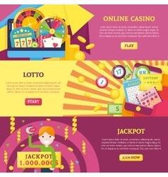 Lottery horizontal banners set vector