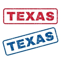 Texas rubber stamps vector